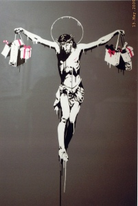 banksy_crucifixion