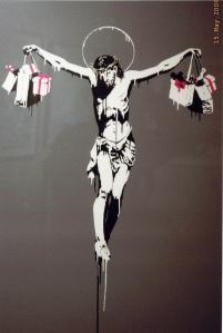 banksy_crucifixion