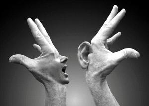 ear hand