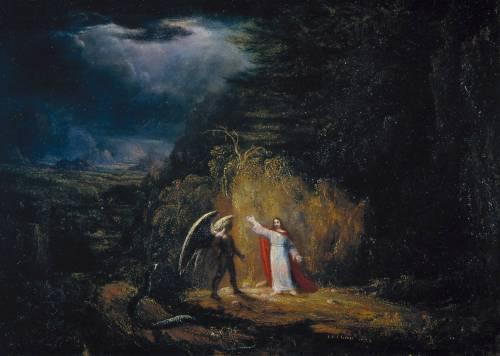 The Temptation in the Wilderness 1824 John St John Long 1798-1834 Purchased 1986 http://www.tate.org.uk/art/work/T04169