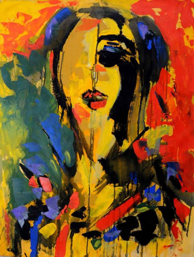Beauties; acrylic on canvas by Basel El Maqosui